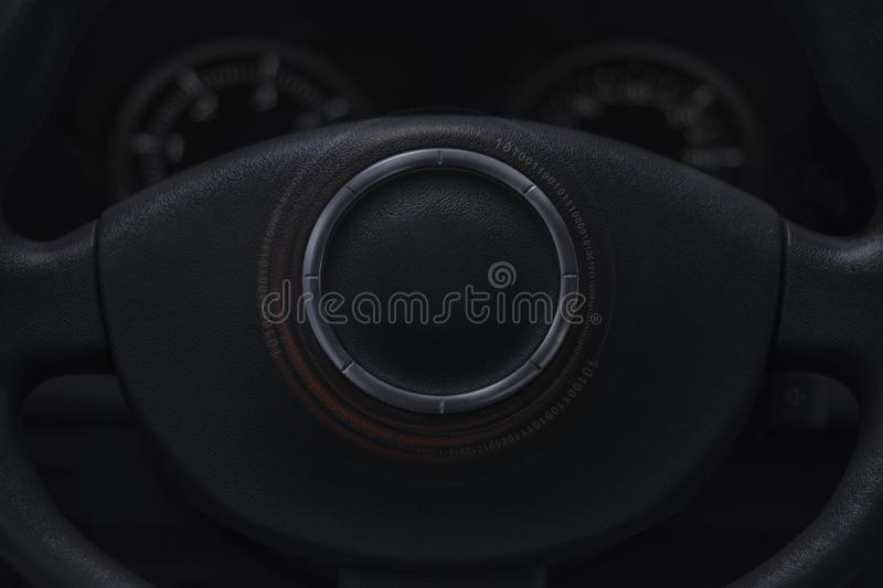 Auto industry concept. Global auto industry concept with empty circle royalty free stock photos