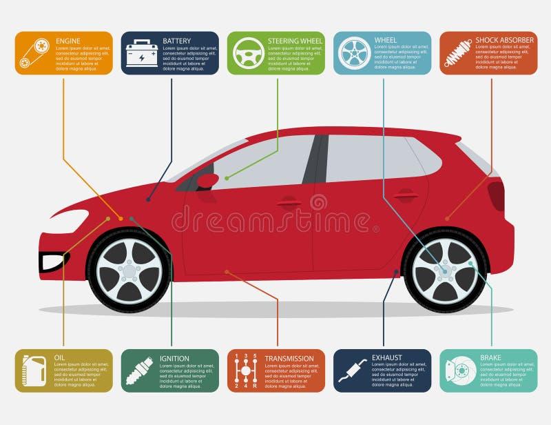 Auto infographic stockfotos