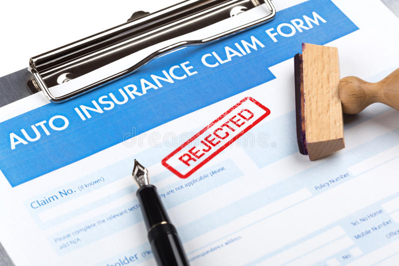 Auto insurance claim form royalty free stock photography