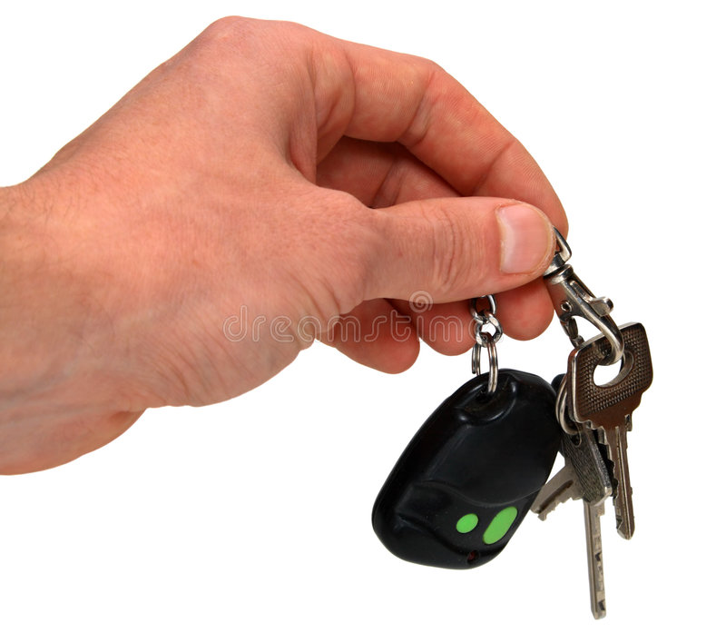 Auto keys in hand royalty free stock photography