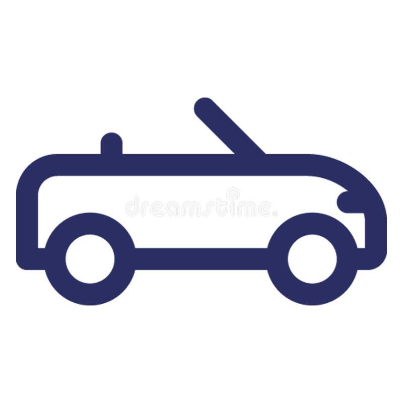 Auto, konvertierbare Auto Vektorikone, die leicht ändern oder redigieren kann stock abbildung