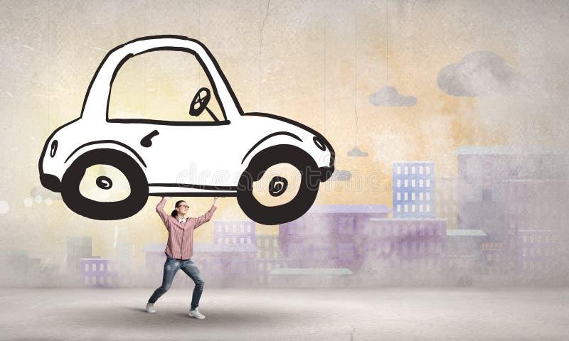 Auto kreditera för alla! stock illustrationer