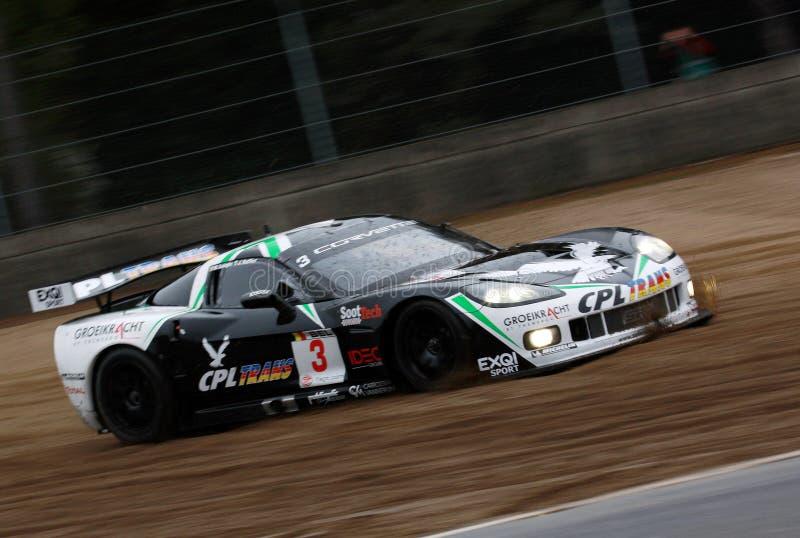 Auto-Laufen (Korvette Z06, FIA GT) stockfotografie