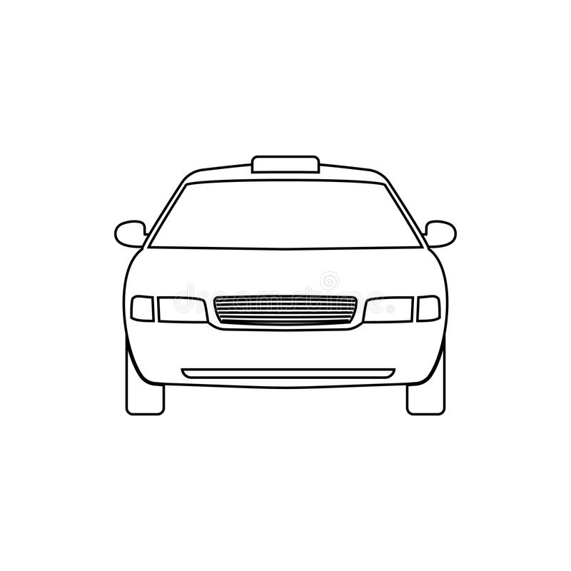 Auto lineair pictogram Taxi vector illustratie
