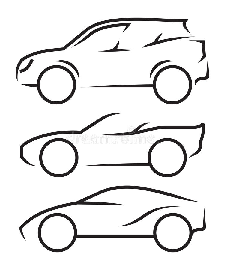 Auto-Linie Kunst lizenzfreie abbildung