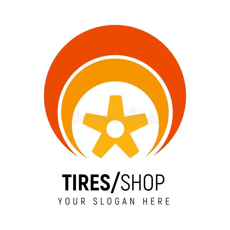 Auto logomall Logotyp för stock illustrationer