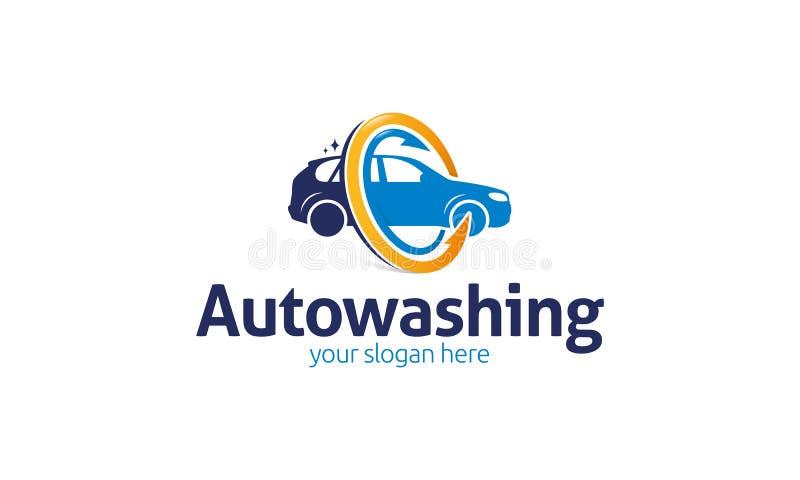 Auto logotipo da lavagem ilustração royalty free