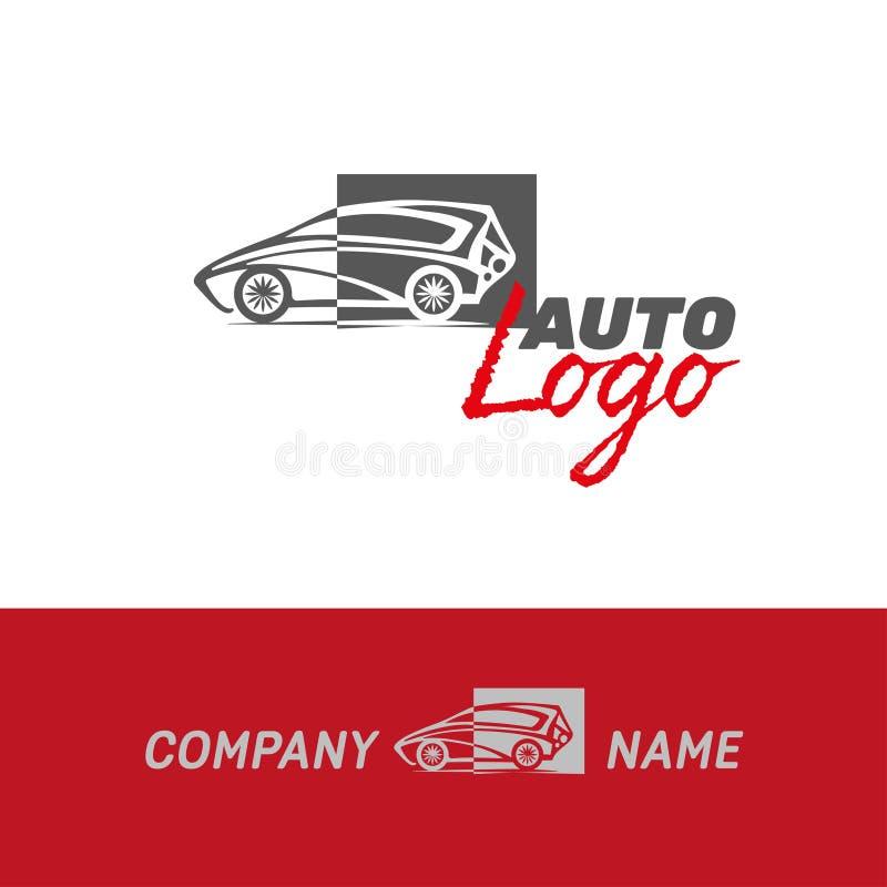 Auto logotipo do sumário do carro ilustração stock