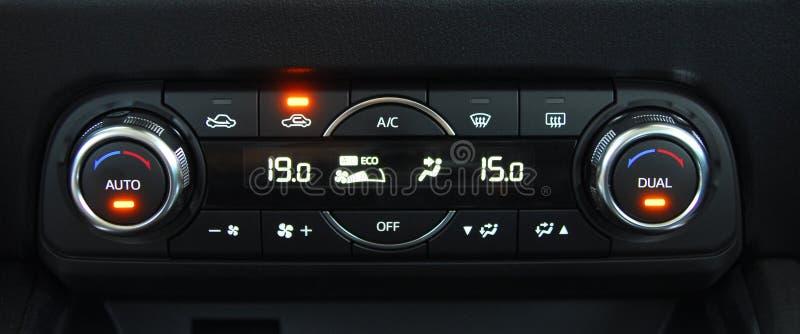 Auto luchtkoelingscontrole stock afbeelding