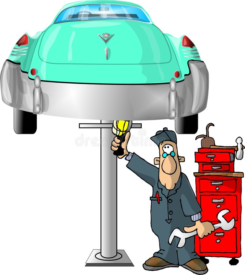Auto Mechanic royalty free illustration