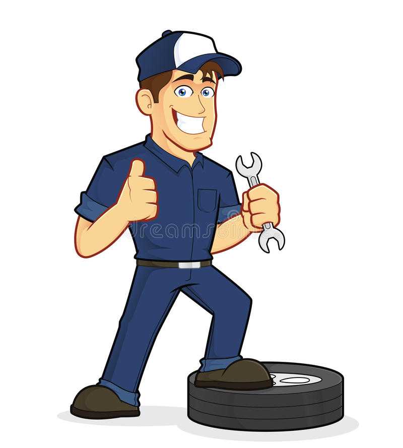 auto mechanic stock vector illustration of holding successful rh dreamstime com car mechanic clipart