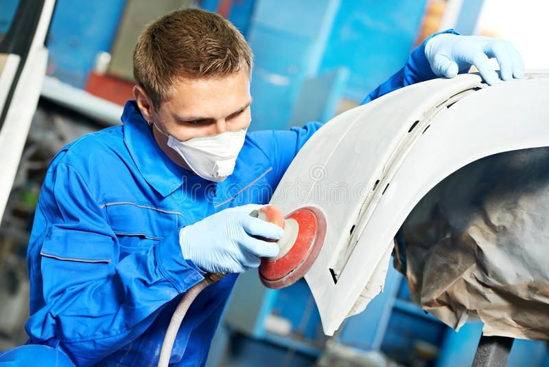 Download Auto Mechanic Polishing Car Stock Photo - Image: 29204690
