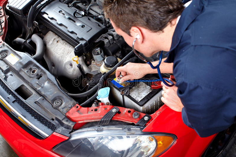 Download Auto Mechanic With A Stethoscope . Stock Photo - Image: 32541812