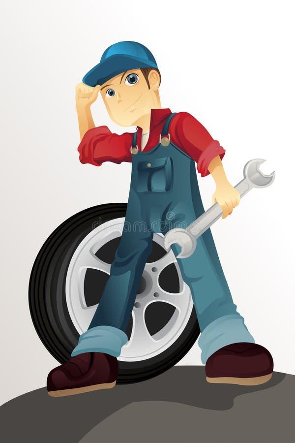 auto mechanik ilustracji