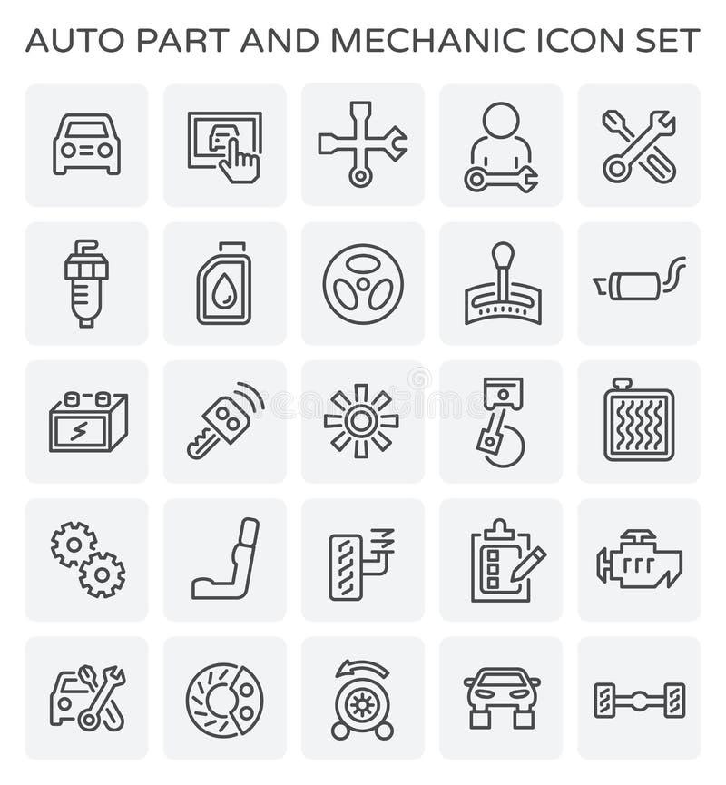 Auto mechanika ikona ilustracji