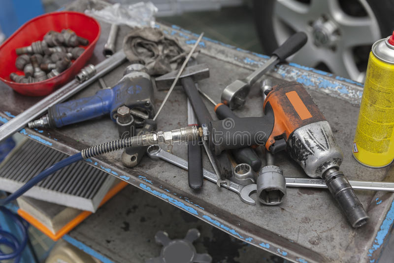 Auto mechanisch hulpmiddel royalty-vrije stock foto's