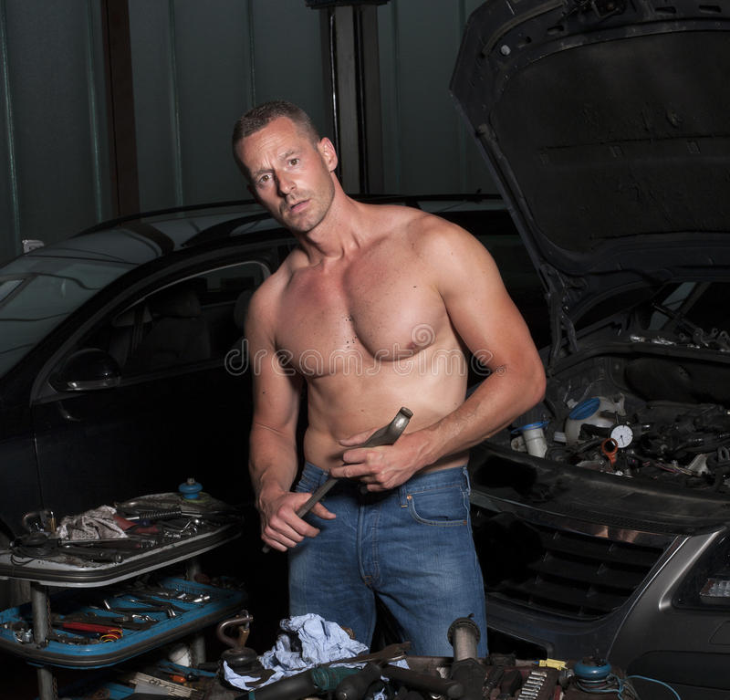 auto mekaniker royaltyfri bild