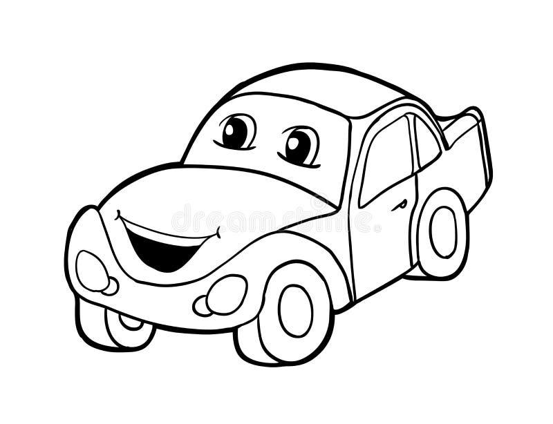 Auto met glimlach vector illustratie