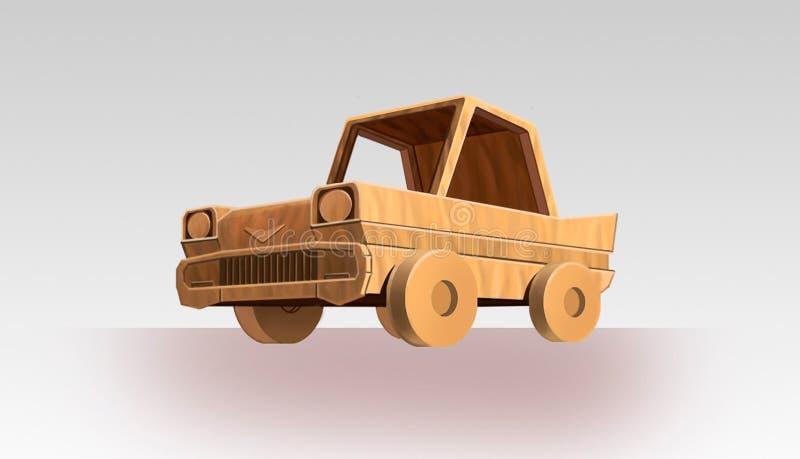 Auto met hout Kunstillustratie vector illustratie
