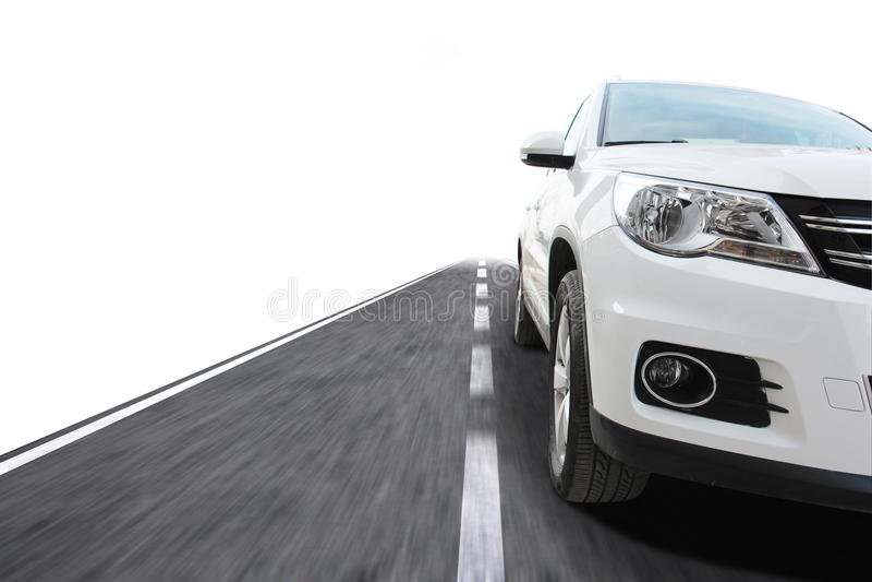 Auto mit Geschwindigkeit lizenzfreie stockfotografie
