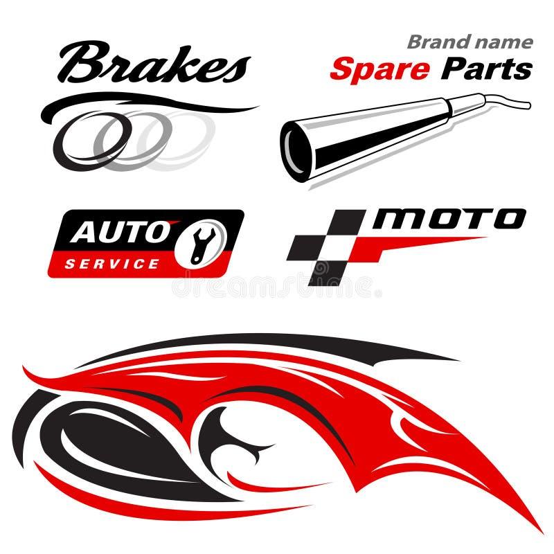 Auto moto ikony royalty ilustracja
