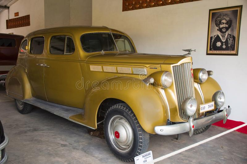 AUTO MUSEU do CARRO do VINTAGE do MUNDO, AHMEDABAD, GUJARAT, ÍNDIA, o 13 de janeiro de 2018 Packard 840, 1930 imagem de stock royalty free