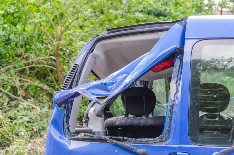 Auto na onweersschade royalty-vrije stock foto
