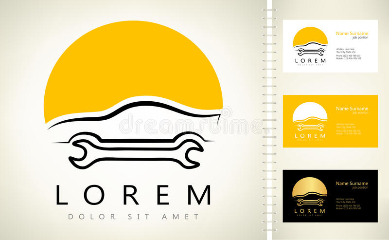 Auto naprawy logo również zwrócić corel ilustracji wektora royalty ilustracja