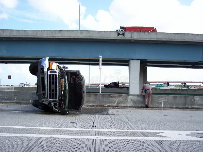 Auto Ongeval Levend Fort Lauderdale Florida stock foto's