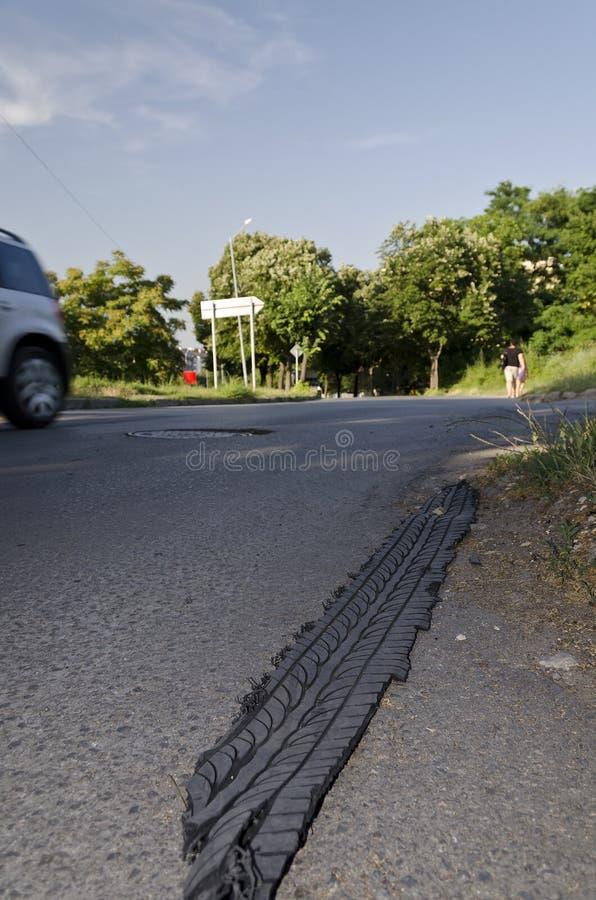 Auto ongeval-punctuur stock foto's