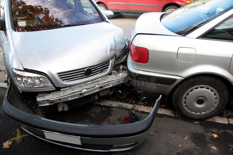 Auto, ongevallenbotsing royalty-vrije stock afbeeldingen