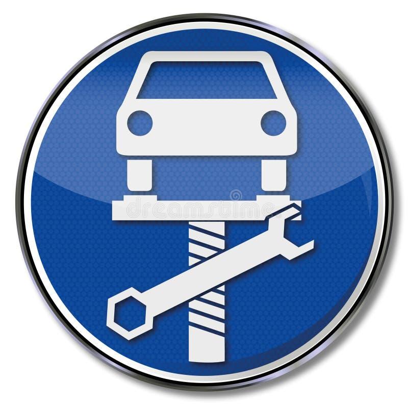Auto op een lift stock illustratie