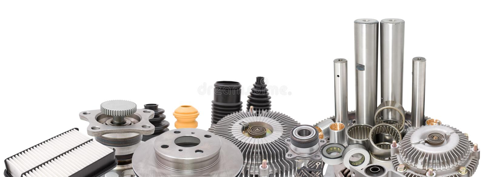 Auto parts border royalty free stock photography