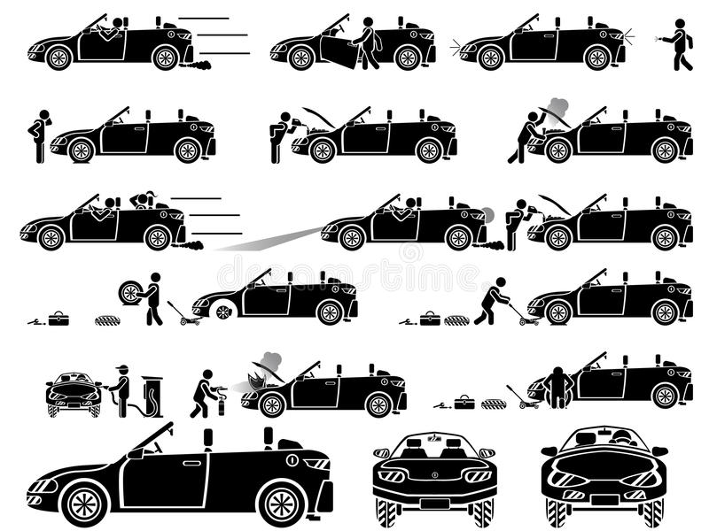 Auto pictogrammen vector illustratie
