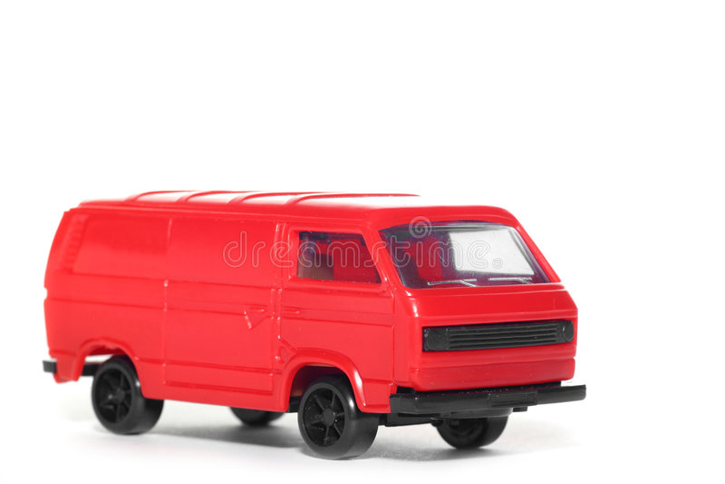 Auto Plastik-VW-Van toy stockfotografie