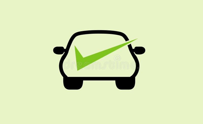Auto projeto Logo Symbol Illustration do carro da verificação ilustração royalty free