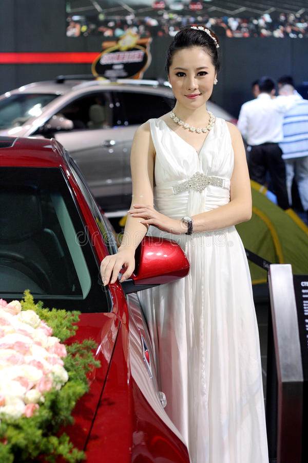 Auto przedstawienia model w Jinan Shandong Chiny zdjęcia stock