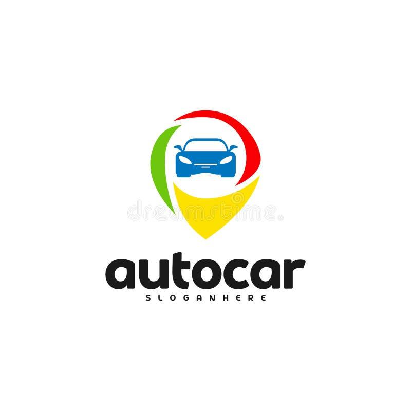 Auto-Punkt Logo Template Designs Selbstautologopunkt lizenzfreie abbildung