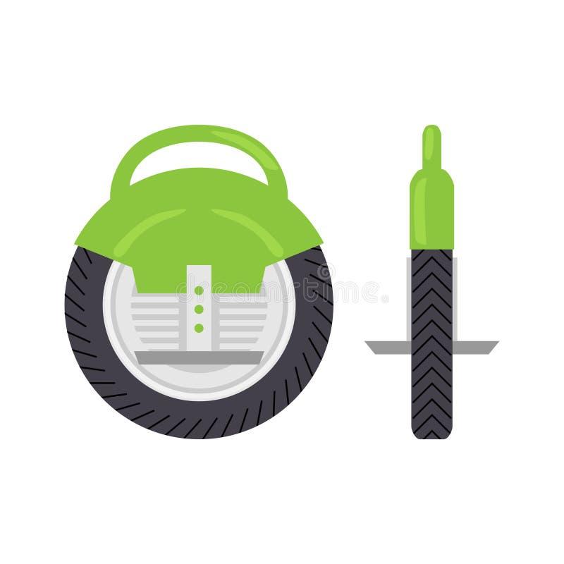 Auto que equilibra o Unicycle bonde ilustração royalty free