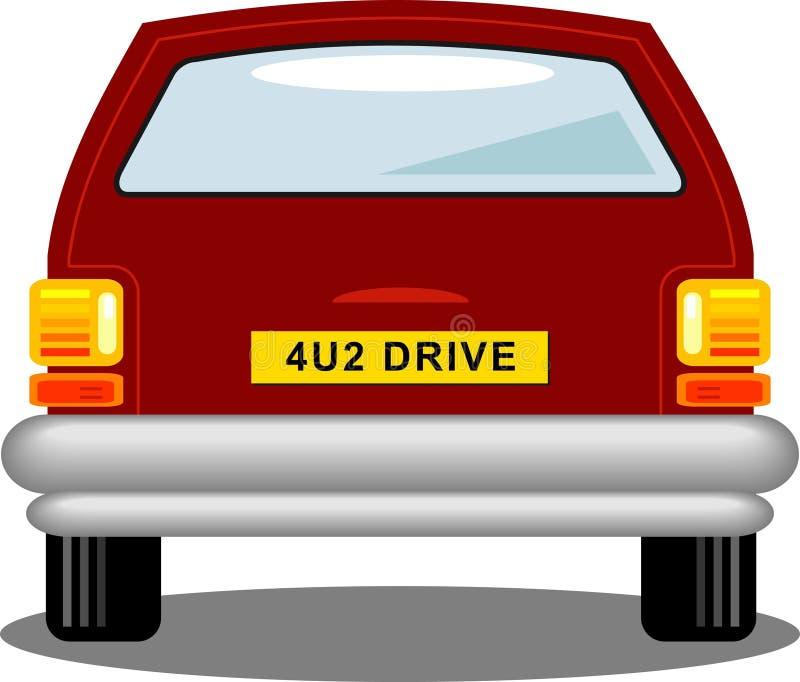 Auto-Rückseite stock abbildung