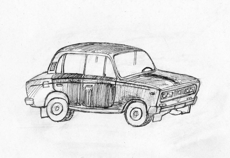 Auto. Reihe Fahrzeuge. lizenzfreie stockfotos