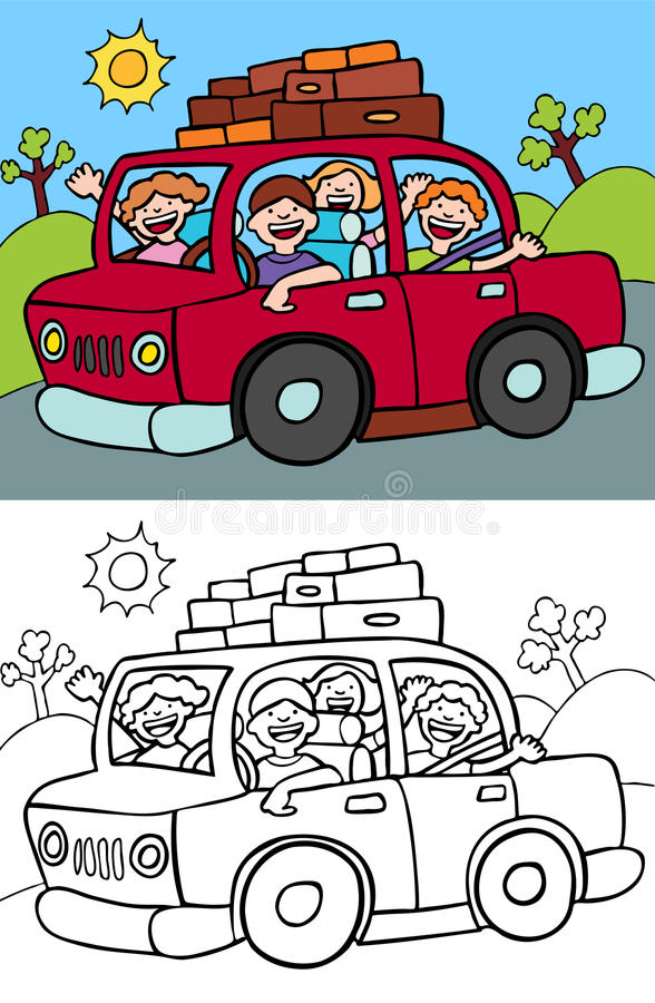 Auto-Reise lizenzfreie abbildung