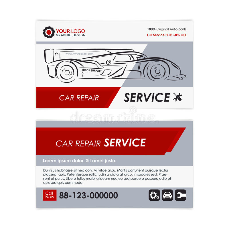 Auto repair business card template create your own business cards auto repair business card template create your own business cards mockup vector illustration colourmoves