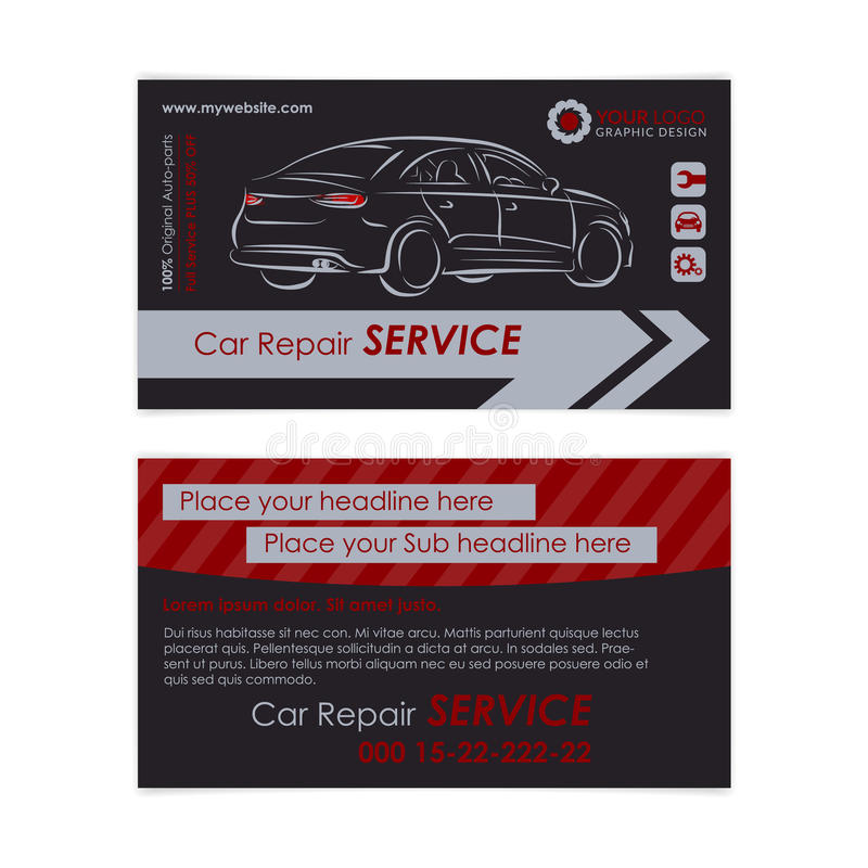 Auto repair business card template create your own business cards download auto repair business card template create your own business cards stock vector colourmoves