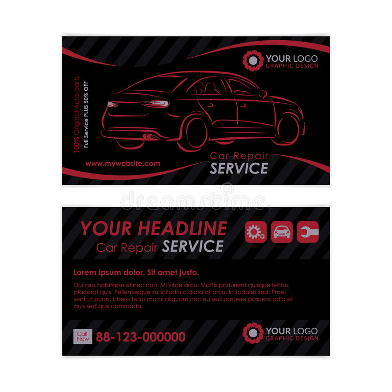 Auto repair business card template create your own business cards download auto repair business card template create your own business cards stock vector cheaphphosting Images