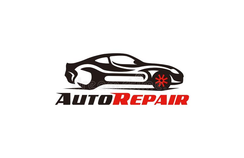 Car Repair Logo. Concept logo design of illustrator vector a Automotive Tuning Repair Cars Logo Template isolated on white  transparency background vector illustration