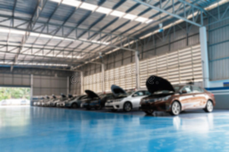 Auto repair service center. Blur of Auto repair service center stock photo