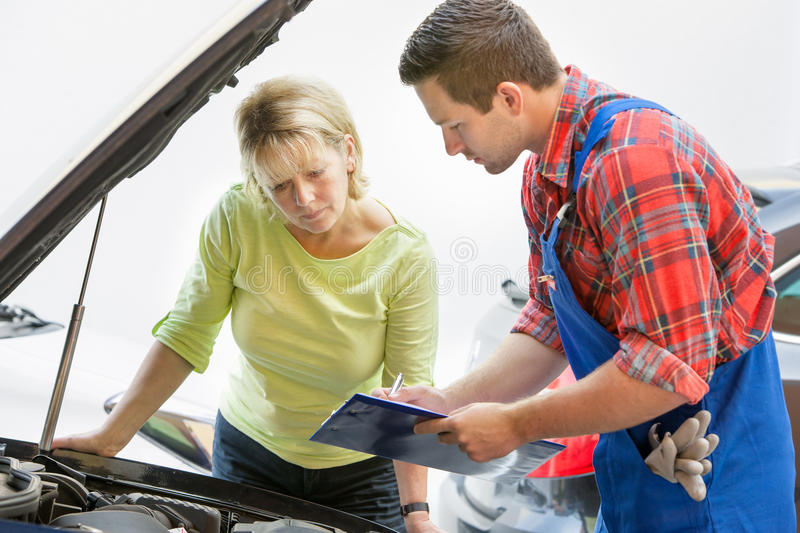 Auto repair shop stock image