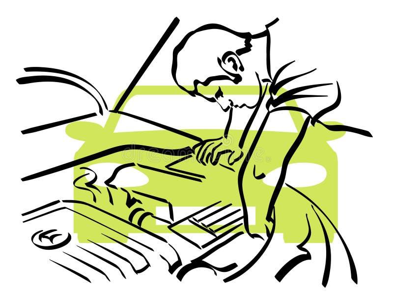 Auto reparatie stock illustratie