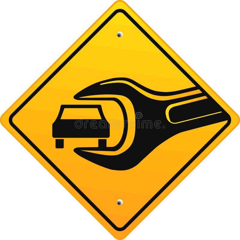 Auto reparatiewerkplaats, teken vector illustratie